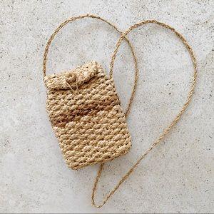 🌾 VINTAGE Straw Rattan Crossbody Bag